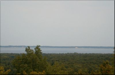 A view from the top of the world - Beaver Island in the distance
